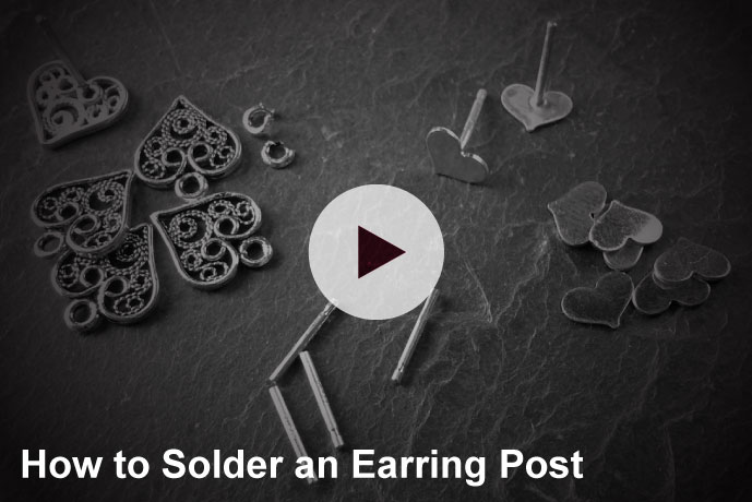 Video: How to Solder an Earring Post